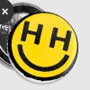 happy hardcore smiley face - Small Buttons