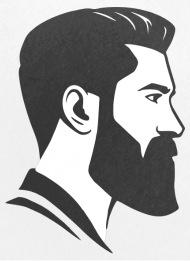 Small ButtonsHead Face Shape Beard Undercut Hair Cut Undercut