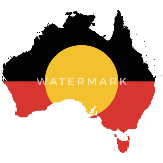 Australia Map And Flag.Australian Aboriginal Flag On Australian Map Buttons Small 1 5 Pack White