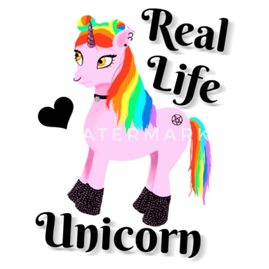 Real life unicorn Buttons small 1'' (5-pack) - white