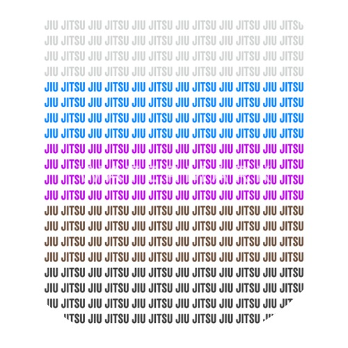 Jiu Jitsu BJJ Belt Colors Light Small Buttons - white