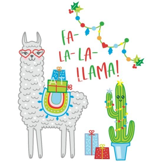 Llama Christmas.Fa La La Llama Christmas Gift Idea Alpaca Cactus Buttons Small 1 5 Pack White