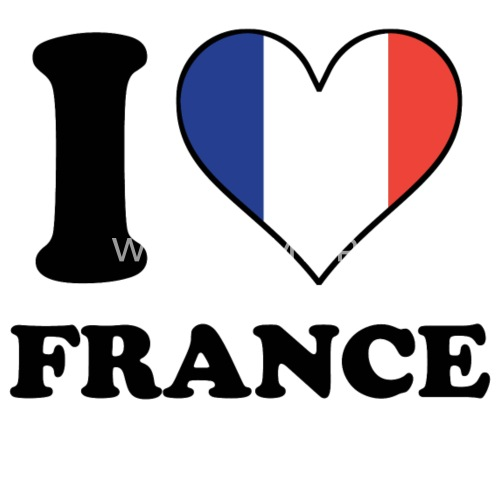 ad2ad1f9859 I Love France French Flag Heart Small Buttons
