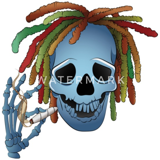 Printed Baby Grow Rasta Skull