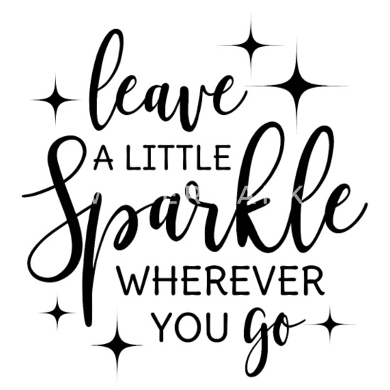 Leave a little sparkle wherever you go quote black Buttons small 1''  (5-pack) - white