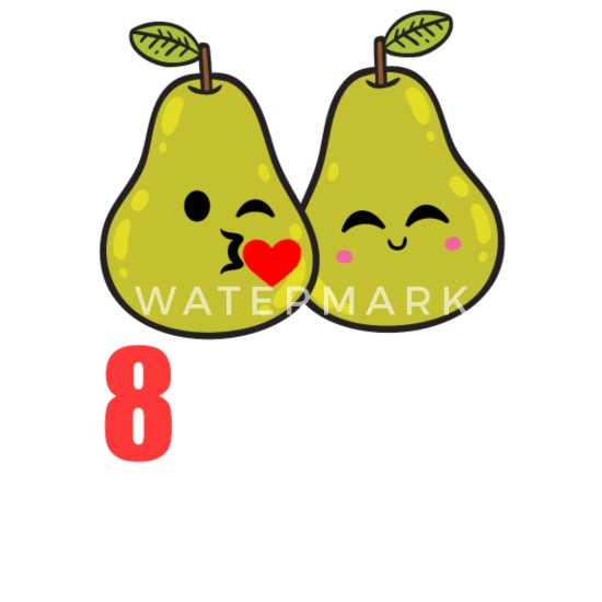 8th Wedding Anniversary.8th Wedding Anniversary Funny Pear Couple Gift Buttons Small 1 5 Pack White