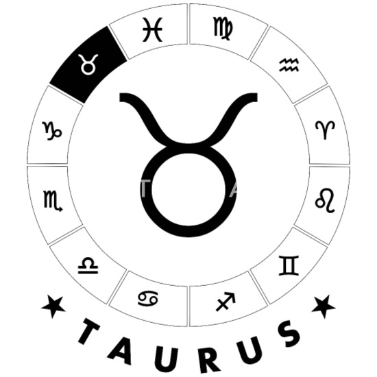 Taurus Symbol Buttons small 1'' (5-pack) - white