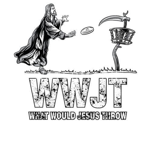 What Would Jesus Throw Disc Golf Tshirt For Men By Wwb Designs