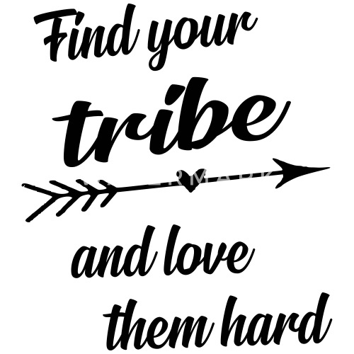 Find Your Tribe Quote Small Buttons Spreadshirt