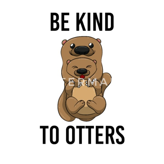 Be Kind To Otters T Shirt Puns Wordplay Animal Pun Buttons small 1''  (5-pack) - white