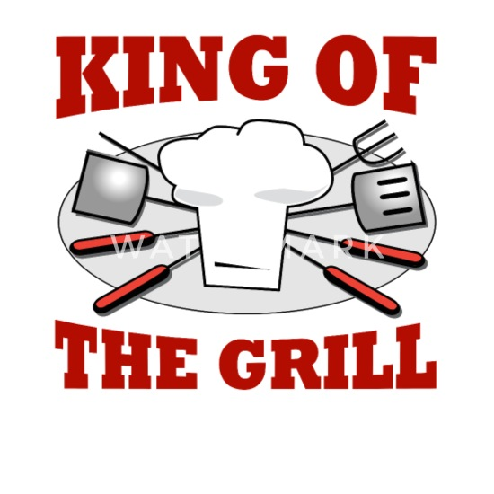 King of the Grill Barbeque Grill Chef Buttons small 1'' (5-pack) - white