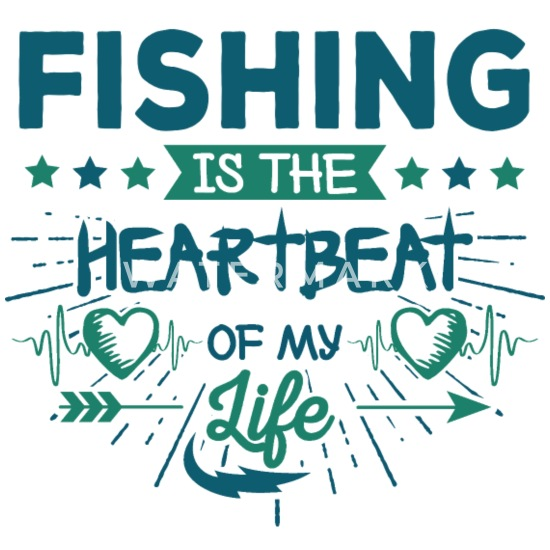 Cute Heartbeat Proud Fishing Quotes Sayings Gifts Buttons small 1\'\'  (5-pack) - white
