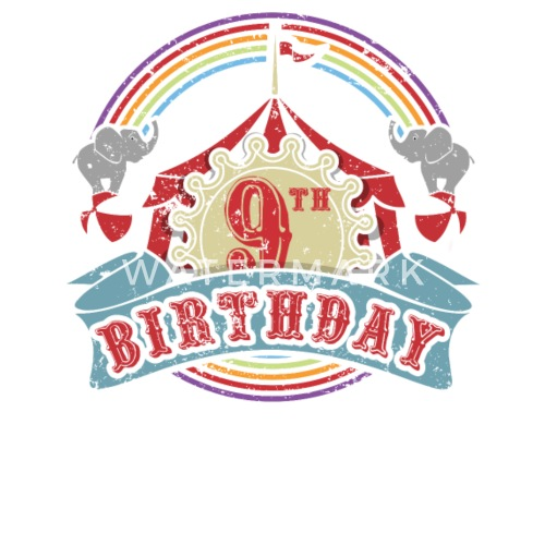 Small ButtonsCircus Carnival Theme 9th Birthday Party Kids Shirt
