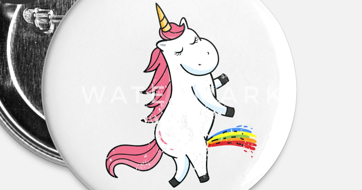 Retro Vintage Grunge Style Pee Peeing Piss Unicorn Small Buttons |  Spreadshirt