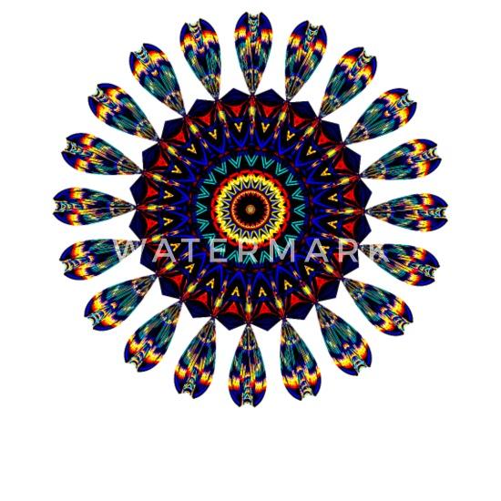 Mandala Sacred Geometry Prana Art Yoga Mantra Om Buttons small 1'' (5-pack)  - white