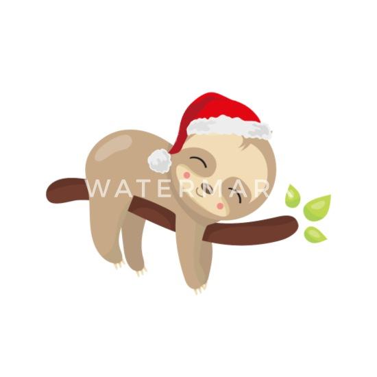 Christmas Sloth.Christmas Sloth Buttons Small 1 5 Pack White