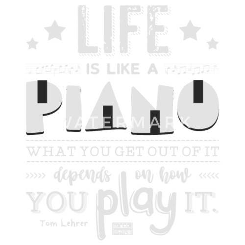 Life Is Piano Inspirational Quotes Music Lover Small Buttons