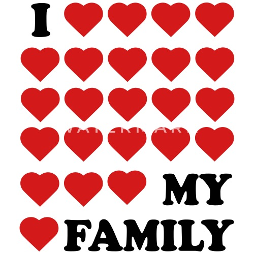 I Love My Family Small Buttons Spreadshirt