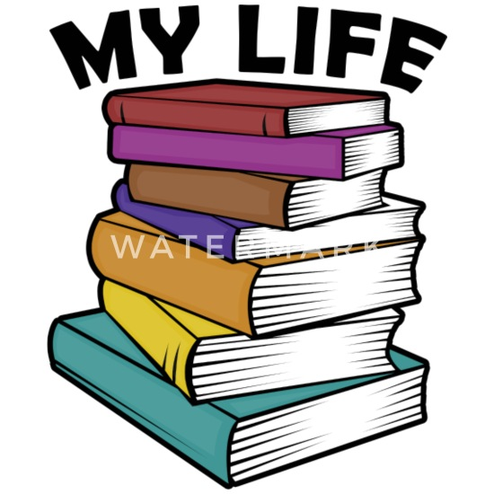 MY LIFE is Books Buttons small 1'' (5-pack) - white