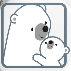 Cartoon Mum Polar Bear And Cub by Cheerful Madness