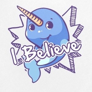 I Believe Narwhal Shirt - Small Buttons