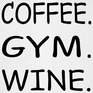 COFFEE GYM WINE - Baseball Cap