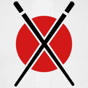 chopstick - red - circle - Baseball Cap