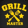 grill master BBQ barbecue design with fork and patty scraper - Baseball Cap