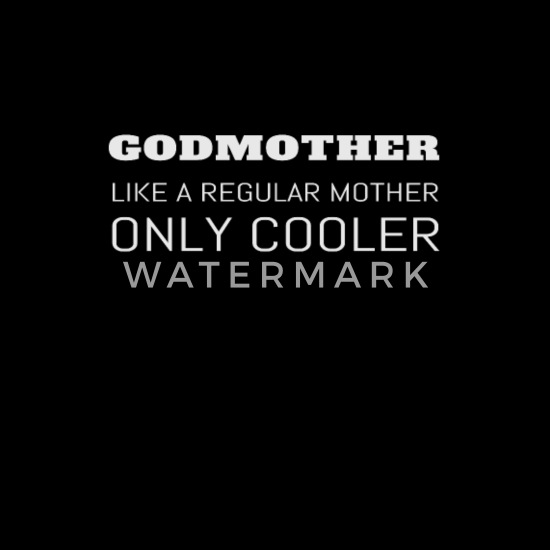 Funny Godmother Godparent Godchild Gift Baseball Cap - black