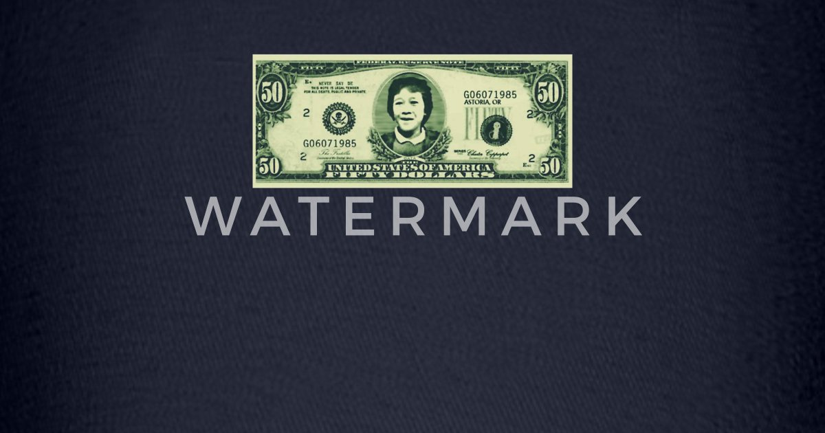 50 Dollar Bill - The Goonies Baseball Cap   Spreadshirt