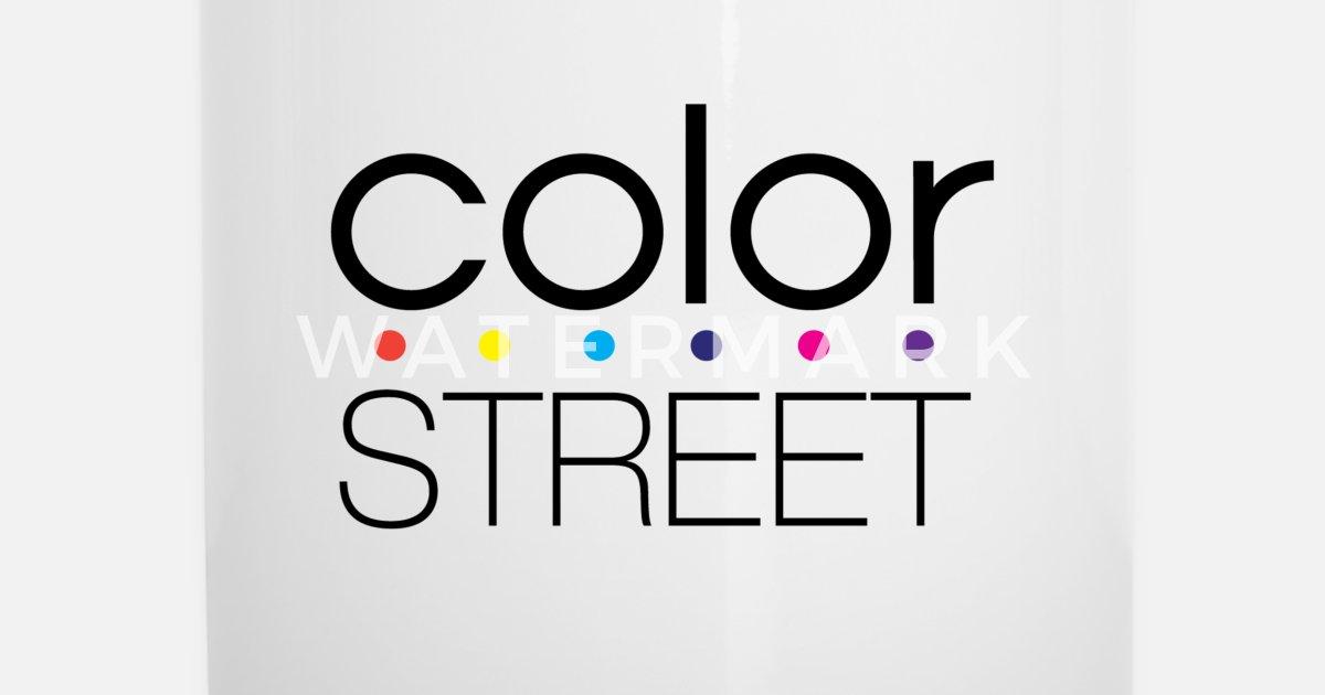 Color Street Block Color Logo Enamel Mug Spreadshirt