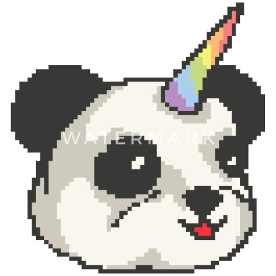 Pandacorn Funny Panda Unicorn Pixel Art Camper Mug White