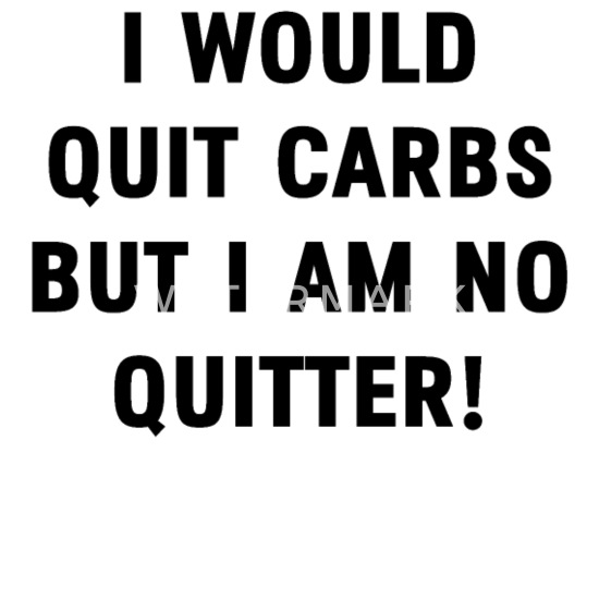 Quit Carbs Fitness Lowcarb Gym Funny Quotes Gift Camper Mug - white