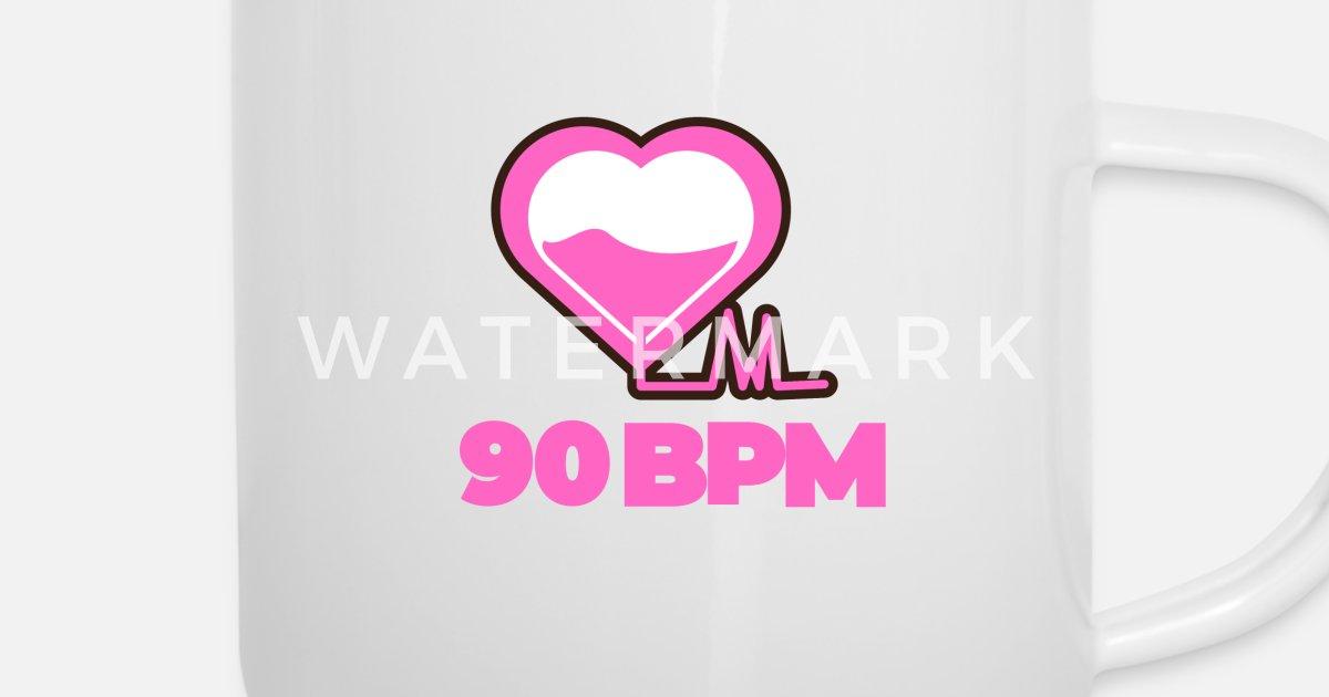90 BPM Music Love Enamel Mug | Spreadshirt