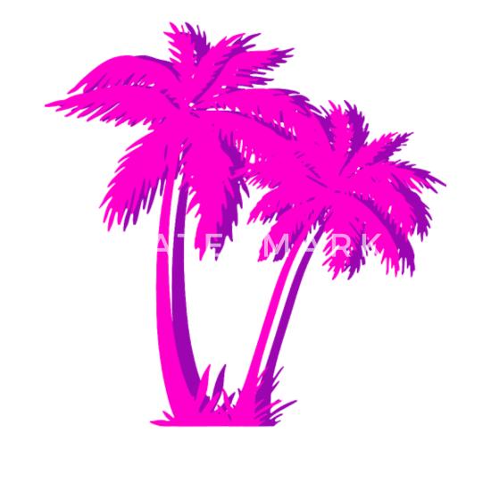 Vaporwave aesthetic glitch art. Palm tree effect camper
