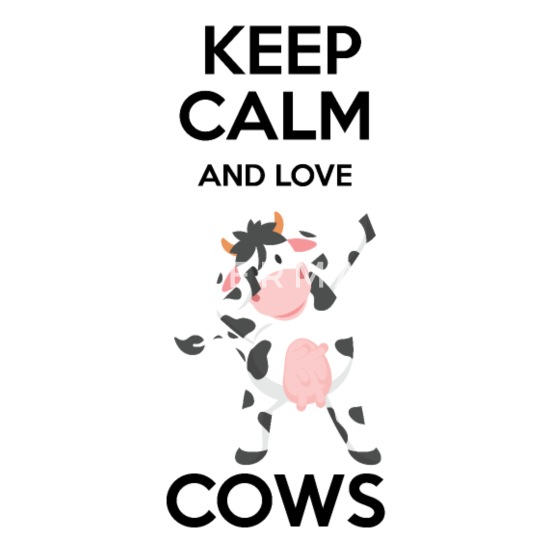 Keep Calm and Love Cow Quotes Camper Mug - white