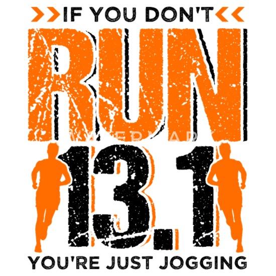Runner Running Half Marathon Quotes Gift Camper Mug - white
