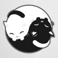 Cat , Yin Yang Cats Black and White , Gift Idea Camper Mug , white