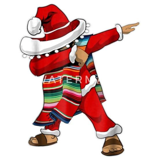 Christmas Sombrero Dabbing Mexican Poncho Santa Enamel Mug Spreadshirt