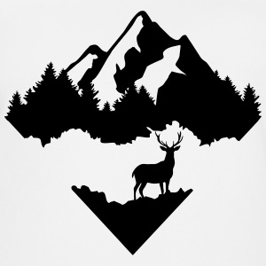 Deer, Forrest and Mountains