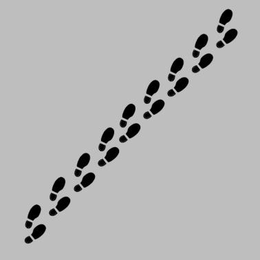 Footprints, Shoeprints Kids' T-Shirt | Spreadshirt
