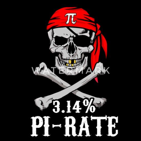 Pi Pirate 3 14% Pun Skull and Bones Cotton Drawstring Bag