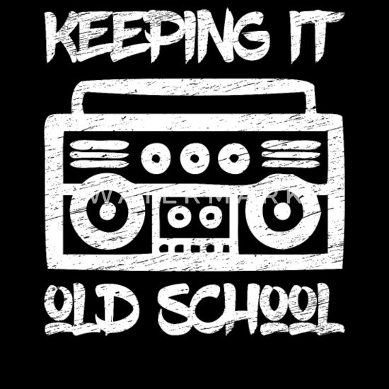 Keeping It Old School 80s Gettho Blaster Music Cotton