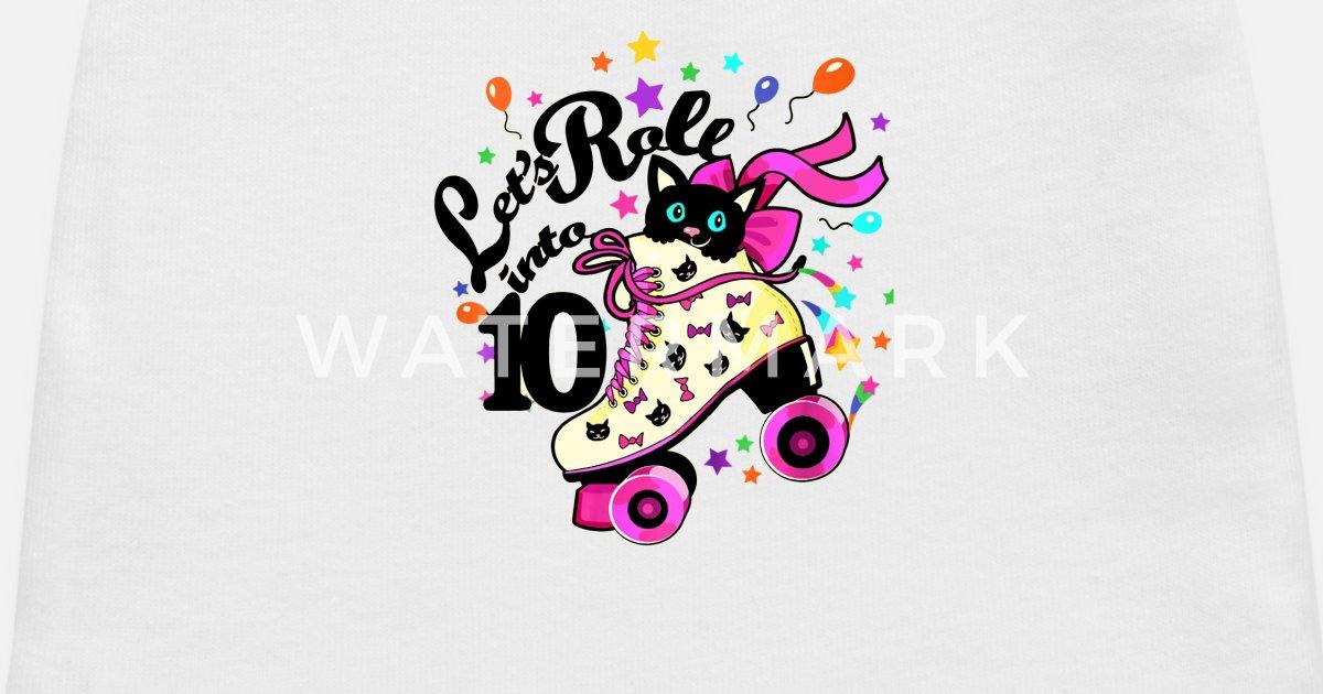 Kids 10 Year Old Birthday Shirt Girl Roller Skate Baby Cap