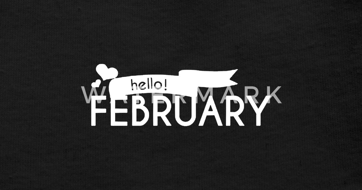 Hello february with flag love Baby Cap | Spreadshirt