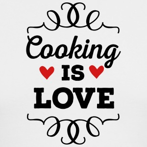 Cooking is Love - Men's Long Sleeve T-Shirt by Next Level