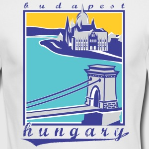 Budapest Chain Bridge, Hungary - Men's Long Sleeve T-Shirt by Next Level