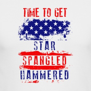 Time To Get Star Spangled Hammered Flug - Men's Long Sleeve T-Shirt by Next Level