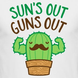 Sun's Out Guns Out Macho Cactus - Men's Long Sleeve T-Shirt by Next Level