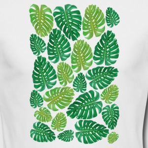 Monstera Leaf-TSHIRT - Men's Long Sleeve T-Shirt by Next Level
